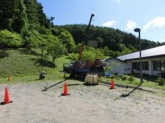 長寿の森 裏山斜面の地質調査が行われました 7月10日~8月10日