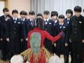 遠野長寿の郷 遠野中学校3年4組の生徒が来てくれました。10月10日